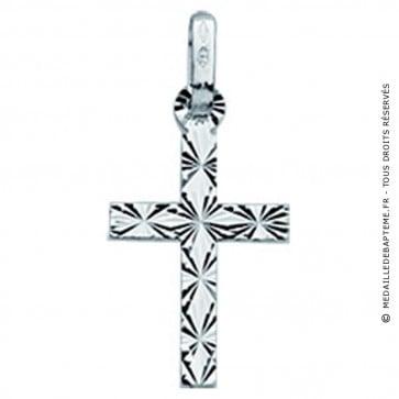 Pendentif Croix Diamantée Double Face