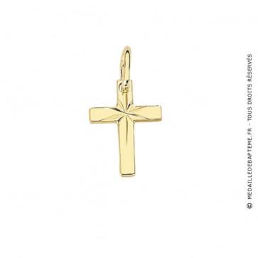 Pendentif Croix Diamantée (Or Jaune)
