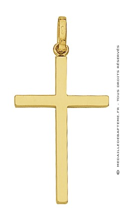 Pendentif Croix Fil Carré (Or Jaune)