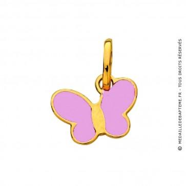 Pendentif Enfant Papillon Rose