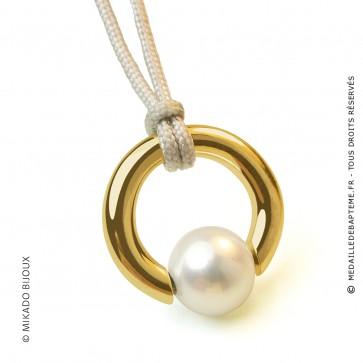 Pendentif Moana (perle blanche d'eau douce) (Or Jaune)