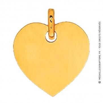 Pendentif Plaque Cœur