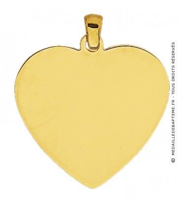 Pendentif Plaque Cœur (Or Jaune)