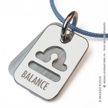 Pendentif SIGNS Balance (Or Blanc)
