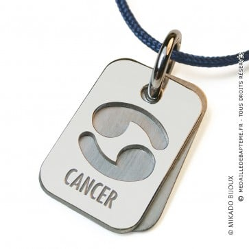 Pendentif SIGNS Cancer (Or Blanc)