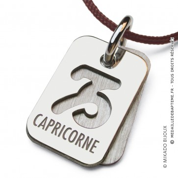 Pendentif SIGNS Capricorne (Argent)