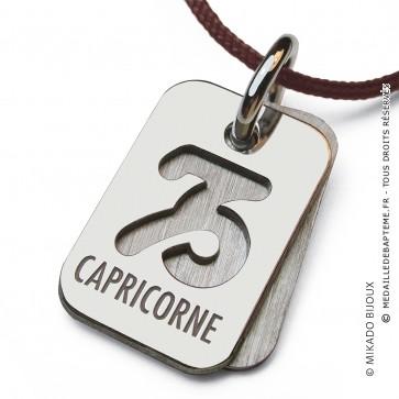 Pendentif SIGNS Capricorne (Or Blanc)