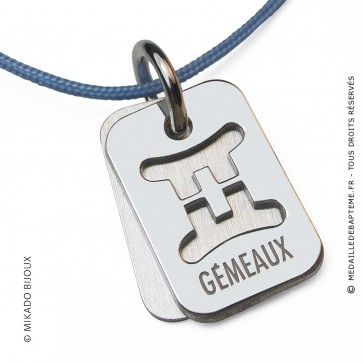Pendentif SIGNS Gémeaux (Or Blanc)