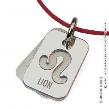 Pendentif SIGNS Lion (Or Blanc)