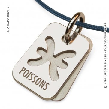 Pendentif SIGNS Poissons (Argent)
