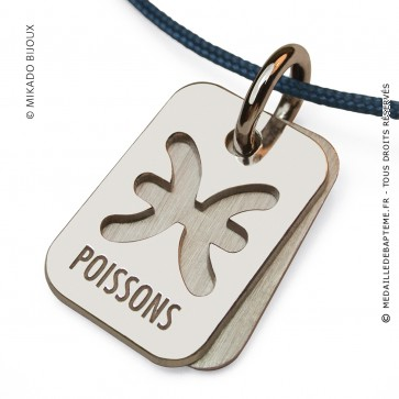 Pendentif SIGNS Poissons (Or Blanc)
