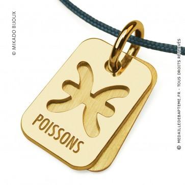 Pendentif SIGNS Poissons (Or Jaune)