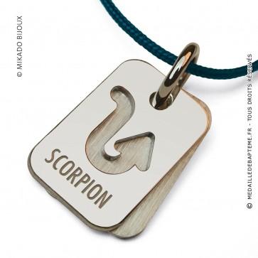 Pendentif SIGNS Scorpion (Or Blanc)