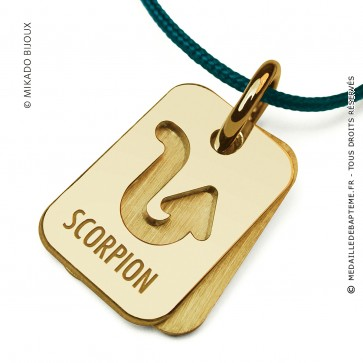 Pendentif SIGNS Scorpion (Or Jaune)