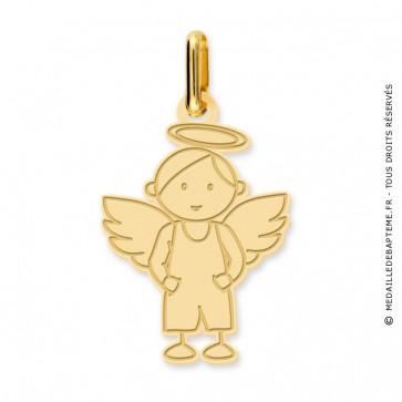 Pendentif ange garçon (Or Jaune)