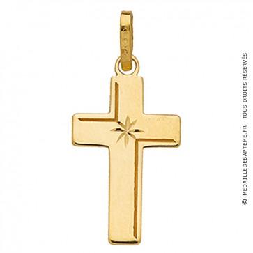 Croix ciselée (Or Jaune)