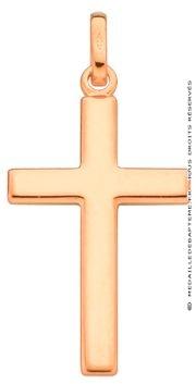 Pendentif Croix Fil Carré Plate (or jaune 9 carats)