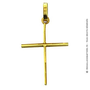 Pendentif croix bâton (or jaune)