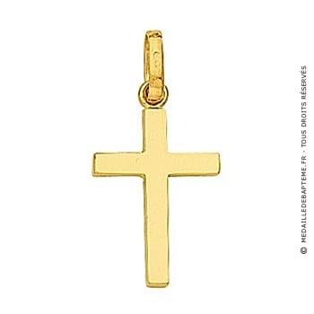 Pendentif Croix Fil Carré (Or Jaune 9k)