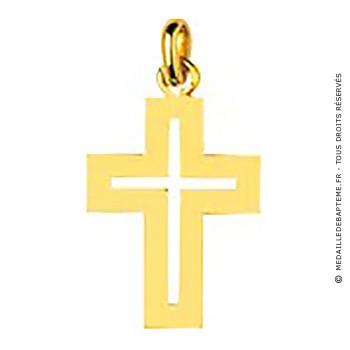 Pendentif Croix ajourée (Or Jaune)