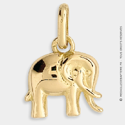 Pendentif Enfant Elephant (Or Jaune)