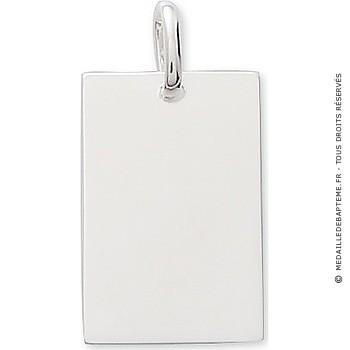 Pendentif plaque rectangulaire ( argent)