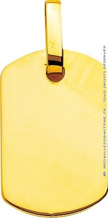 Pendentif plaque militaire (or jaune 9k)