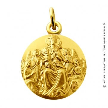 Médaille Vierge aux anges (Or Jaune)