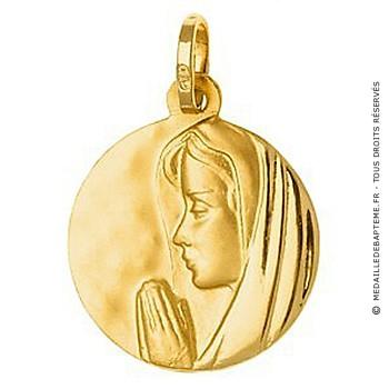 Médaille Vierge 18mm (Or Jaune 9k)