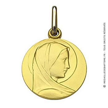 Médaille Vierge Massive (Or Jaune)
