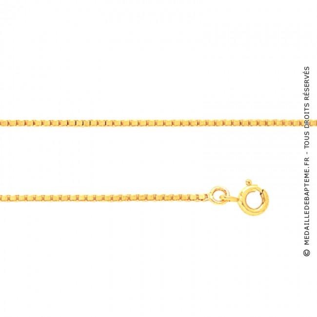 dernière mode procédés de teinture minutieux magasin meilleurs vendeurs Chaine vénitienne (Or Jaune 9 carats)