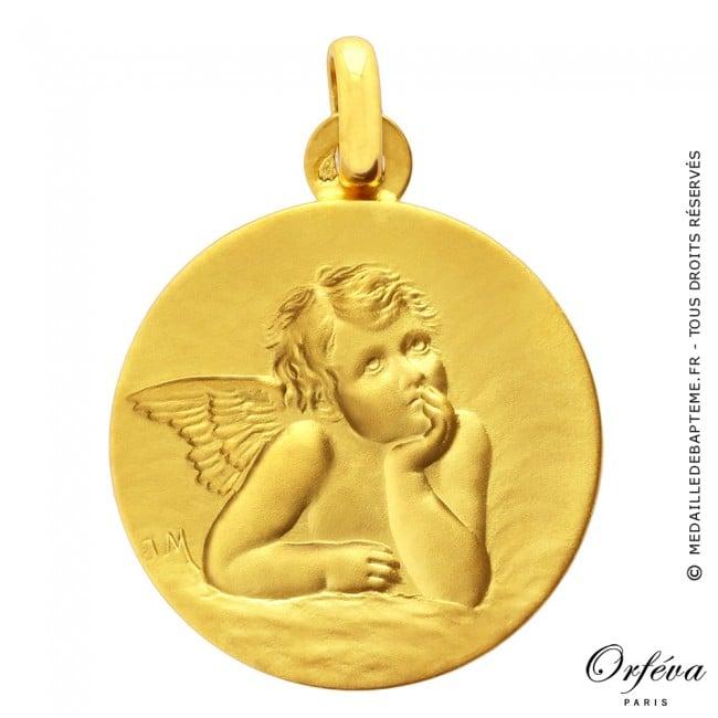 Häufig Medaille de bapteme Ange pensif FN36