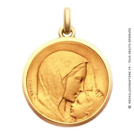m daille becker vierge l 39 enfant le baiser medaille. Black Bedroom Furniture Sets. Home Design Ideas