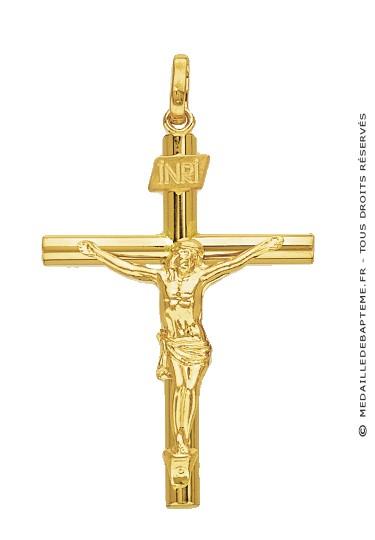 croix christ fil rond or jaune. Black Bedroom Furniture Sets. Home Design Ideas