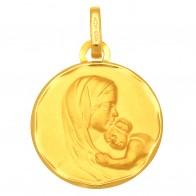 Médaille Vierge à l'enfant (Or Jaune 9K)
