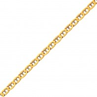 Chaine marine battue (Or Jaune 9 carats)
