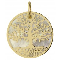 Médaille Arbre de Vie nacrée (Or jaune)