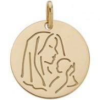 Médaille jeton vierge à l'enfant (Or Jaune)