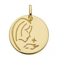 Medaille Jeton vierge à l'étoile (Or Jaune)