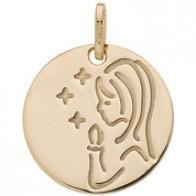 Medaille Jeton vierge aux  étoiles (Or Jaune)
