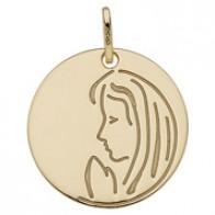 Medaille Jeton vierge en prière (Or Jaune)