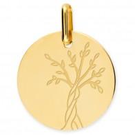 Médaille Arbre de Vie polie (Or jaune)