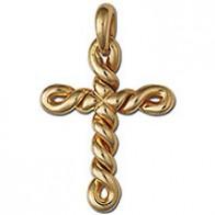 Croix Torsadée (Or Jaune)