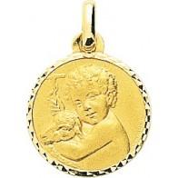 Médaille Agneau de Dieu ciselée (Or jaune)