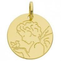 Médaille ange à la colombe (Or Jaune 9K)