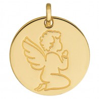 Médaille ange agenouillé (Or Jaune)