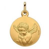 Médaille Ange au baiser (Or Jaune)