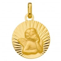 Médaille Ange aux rayons (Or Jaune)