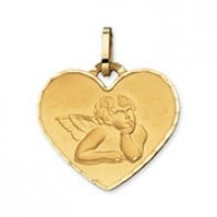Médaille Ange coeur (Or Jaune 9k)