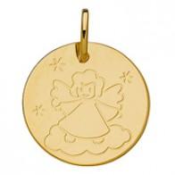 Médaille ange sur son nuage (Or Jaune 9K)